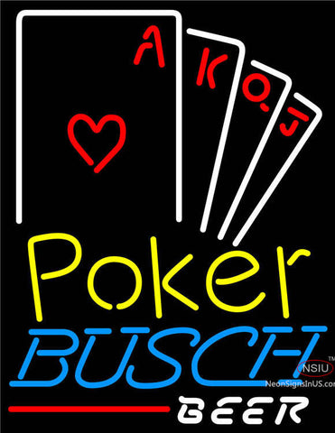 Busch Beer Poker Ace Series Neon Sign