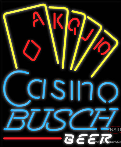 Busch Beer Poker Casino Ace Series Neon Sign