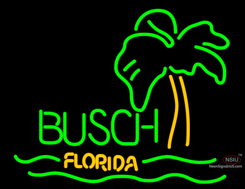 Busch Florida With Palm Tree Neon Beer Sign