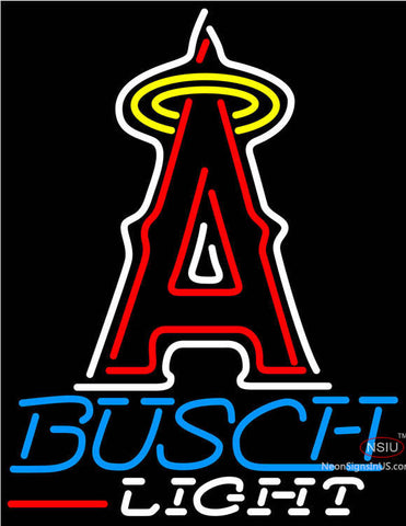 Busch Light Los Angeles Angels Of Anaheim MLB Neon Sign
