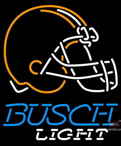 Busch Light Cleveland Browns NFL Neon Sign