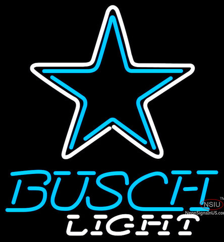 Busch Light Dallas Cowboys NFL Neon Sign