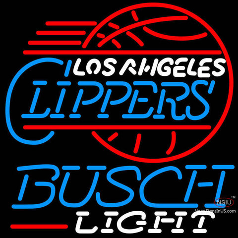 Busch Light Los Angeles Clippers NBA Neon Sign