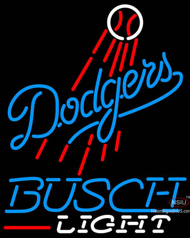 Busch Light Los Angeles Dodgers MLB Neon Sign
