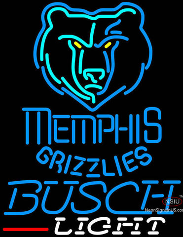 Busch Light Memphis Grizzlies NBA Neon Sign