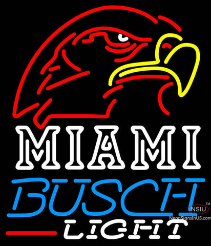Busch Light Miami UNIVERSITY Fall Session Neon Sign