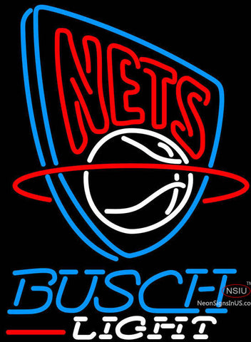 Busch Light New Jersey Nets NBA Neon Sign