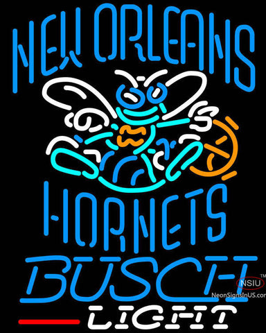 Busch Light New Orleans Hornets NBA Neon Sign