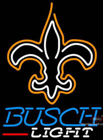 Busch Light New Orleans Saints NFL Neon Sign