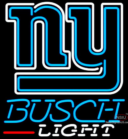 Busch Light New York Giants NFL Neon Sign