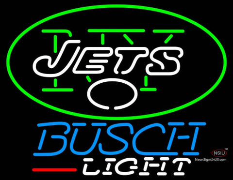 Busch Light New York Jets NFL Neon Sign  7