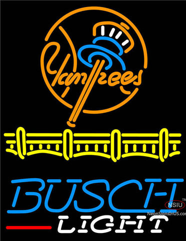 Busch Light New York Yankees Neon Sign