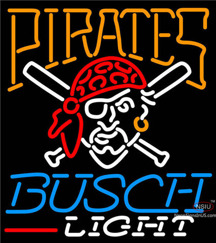 Busch Light Pittsburgh Pirates MLB Neon Sign