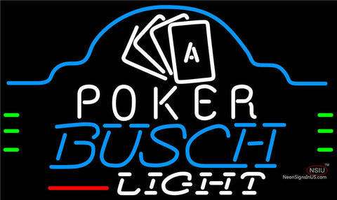 Busch Light Poker Ace Cards Neon Sign