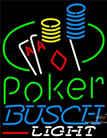 Busch Light Poker Ace Coin Table Neon Sign