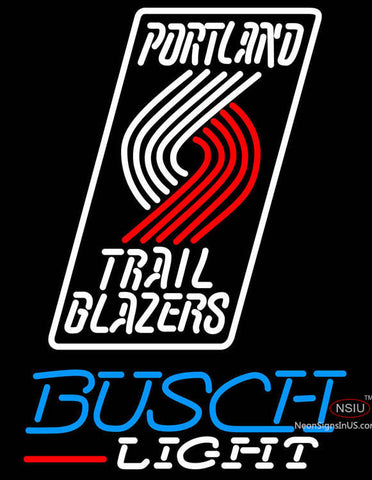 Busch Light Portland Trail Blazers NBA Neon Sign