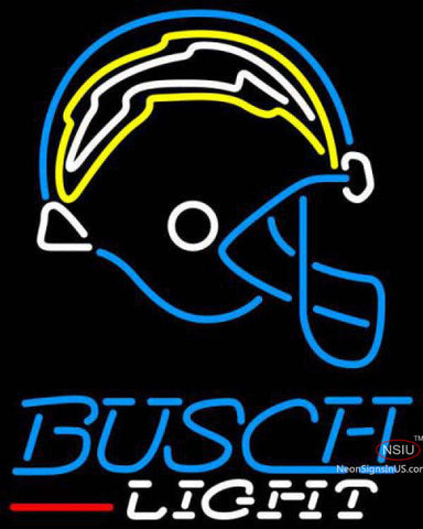 Busch Light San Diego Chargers NFL Neon Sign