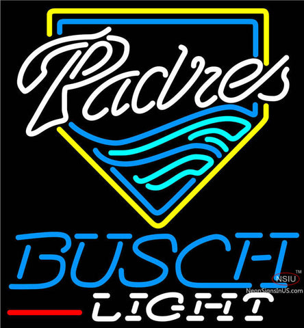 Busch Light San Diego Padres MLB Neon Sign