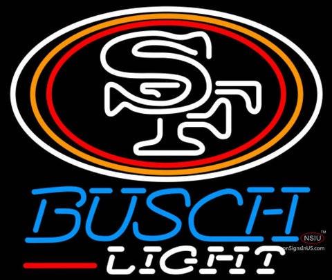 Busch Light San Francisco ers NFL Neon Sign  7