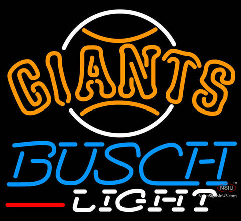 Busch Light San Francisco Giants MLB Neon Sign