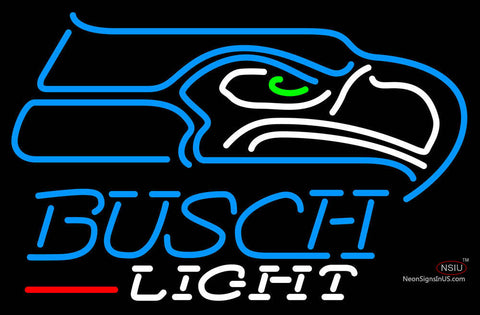 Busch Light Seattle Seahawks NFL Neon Sign  7