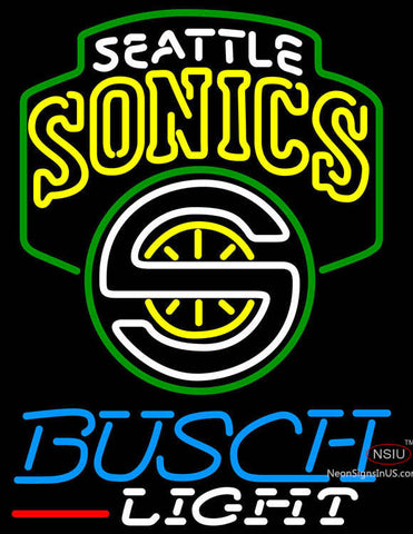 Busch Light Seattle Supersonics NBA Neon Sign