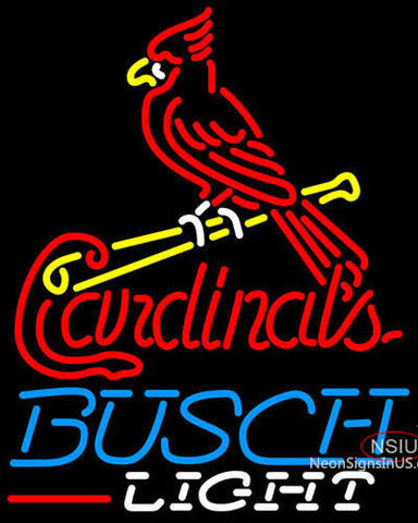 Busch Light St Louis Cardinals MLB Neon Sign