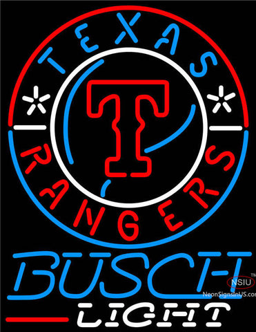 Busch Light Texas Rangers MLB Neon Signs