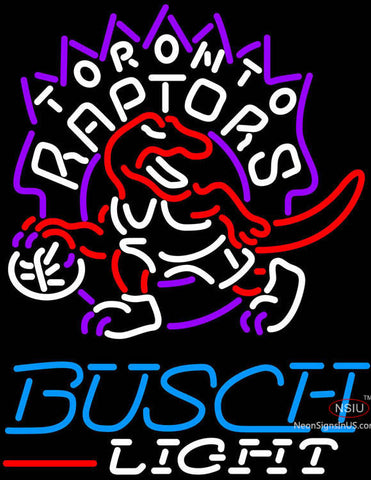 Busch Light Toronto Raptors NBA Neon Sign
