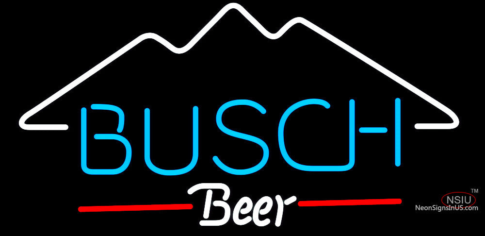 Busch Mountain Neon Beer Sign Neonsigns Usa Inc