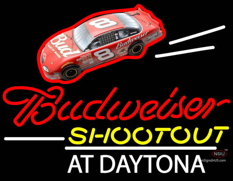 Budweiser Logo With Shootout At Daytona Neon Sign