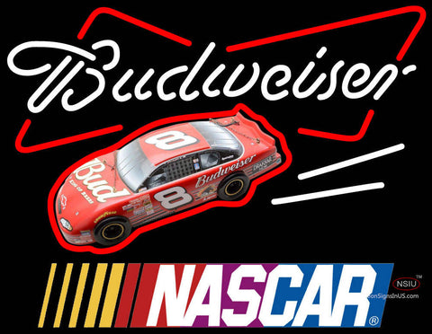 Budweiser With NASCAR Neon Sign
