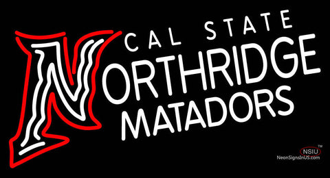 Cal State Northridge Matadors Wordmark  Pres Logo NCAA Neon Sign
