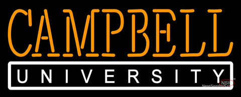 Campbell Fighting Camels Wordmark  7 Logo NCAA Neon Sign