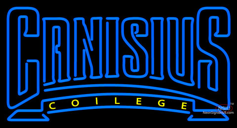 Canisius Golden Griffins Wordmark   Logo NCAA Neon Sign