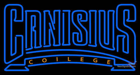 Canisius Golden Griffins Wordmark  Pres Logo NCAA Neon Sign