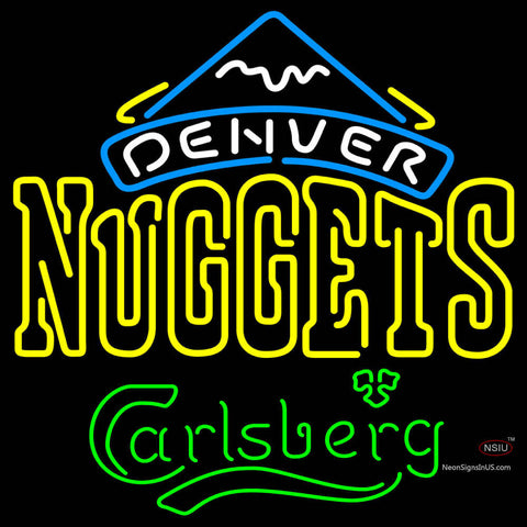 Carlsberg Denver Nuggets NBA Neon Beer Sign
