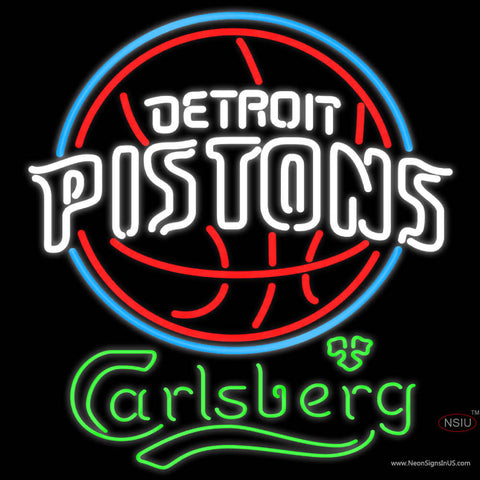 Carlsberg Detroit Pistons NBA Neon Beer Sign