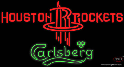 Carlsberg Houston Rockets NBA Neon Beer Sign