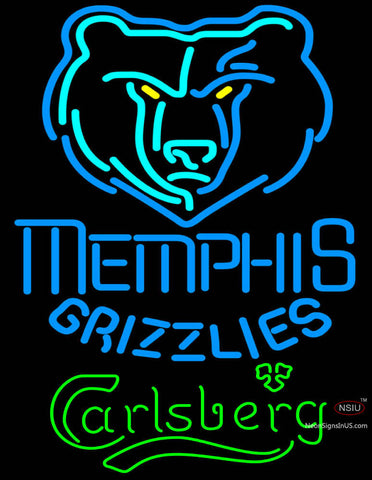 Carlsberg Memphis Grizzlies NBA Neon Beer Sign