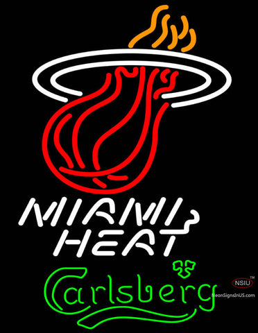Carlsberg Miami Heat NBA Neon Beer Sign