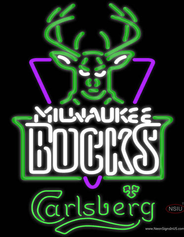 Carlsberg Milwaukee Bucks NBA Neon Beer Sign
