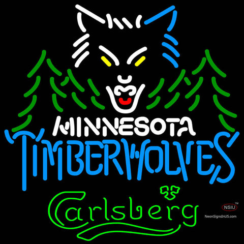 Carlsberg Minnesota Timber Wolves NBA Neon Beer Sign