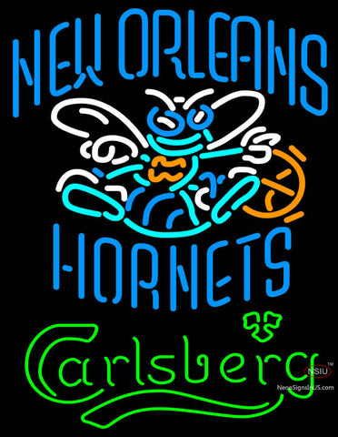 Carlsberg New Orleans Hornets Neon Beer Sign