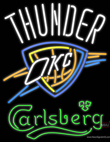 Carlsberg Oklahoma City Thunder Neon Beer Sign