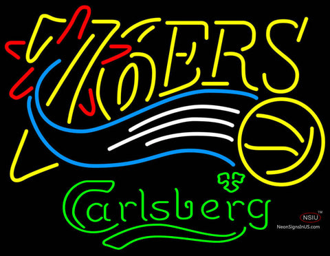 Carlsberg Philadelphia 7ers NBA Neon Beer Sign