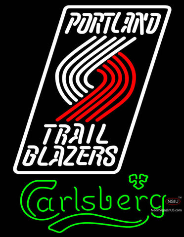 Carlsberg Portland Trail Blazers NBA Neon Beer Sign