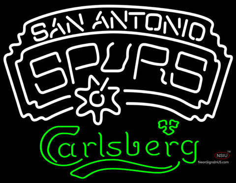 Carlsberg San Antonio Spurs NBA Neon Beer Sign