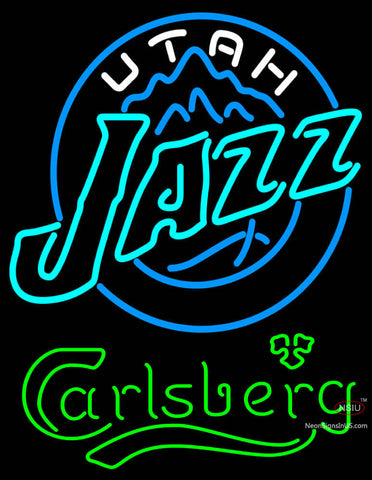 Carlsberg Utah Jazz NBA Neon Beer Sign