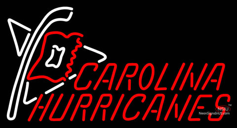 Carolina Hurricanes Alternate   Pres Logo  NHL Neon Sign